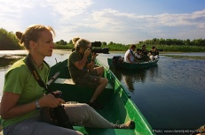 Exploring boats and rowing boats in the Danube Delta